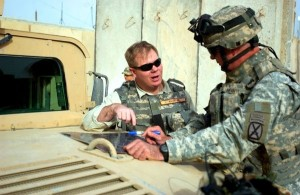 Dr. David Kilcullen on duty with U.S. force in Iraq. A photo from Dr. Kilcullen's Facebook page.
