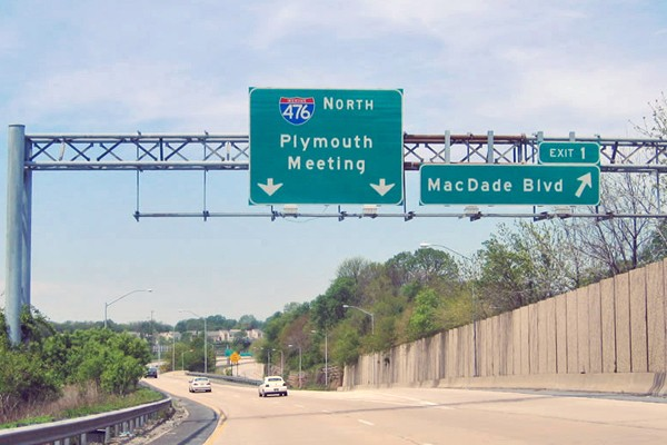 The building of Interstate 476 was a multi-decade saga of contention and delay. (Photo courtesy of Pahighways.com)
