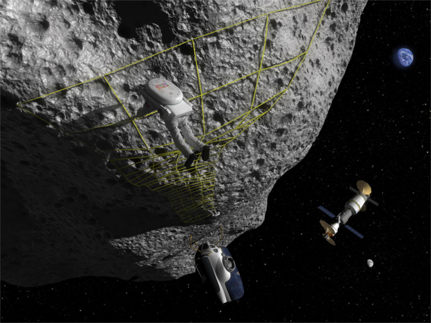 Studying an asteroid