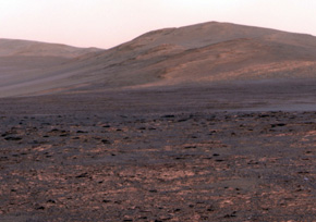 Aspiring astronauts walk on the surface of fake Mars, which is really a volcano in Hawaii. (Courtesy of Ross Lockwood)