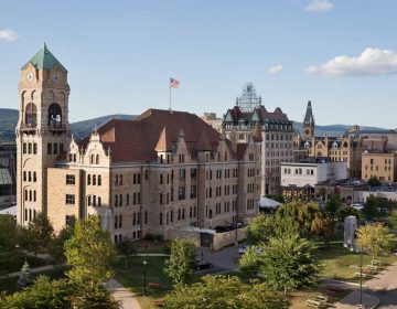 A view of downtown Scranton. (Lindsay Lazarski/WHYY)