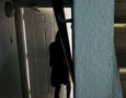 Person leaving via door