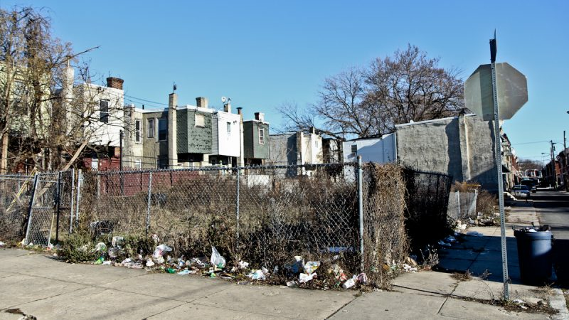 Activists hope to turn a lot in the Swampoodle section of North Philadelphia into a garden. (Kimberly Paynter/WHYY)
