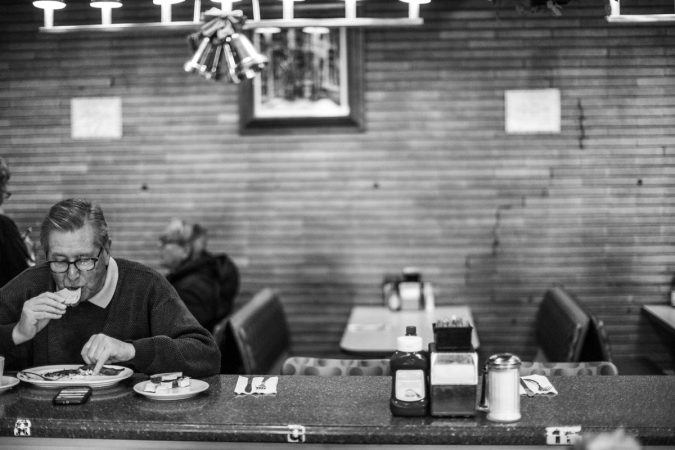 Late afternoon is a good time to enjoy a quiet moment at Little Pete's. (Neal Santos/WHYY)