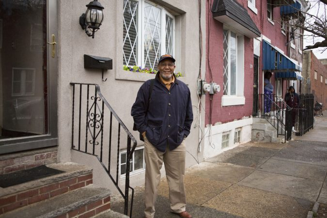 Bill Chaney stands in front of his childhood home in Jewtown recently. (Photo by Jessica Kourkounis)