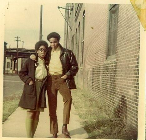 Bill Chaney, right, and his high school sweetheart Sharon Oliphant, left, pose for a photograph in Jewtown. (Courtesy of Bill Chaney)