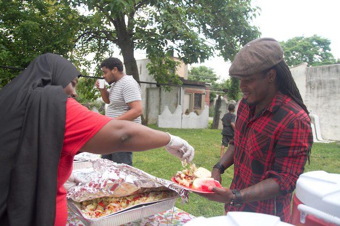 BBQ served by Brenda Wilson-Toler and her team. (Miguel Martinez/Every ZIP Philadelphia)