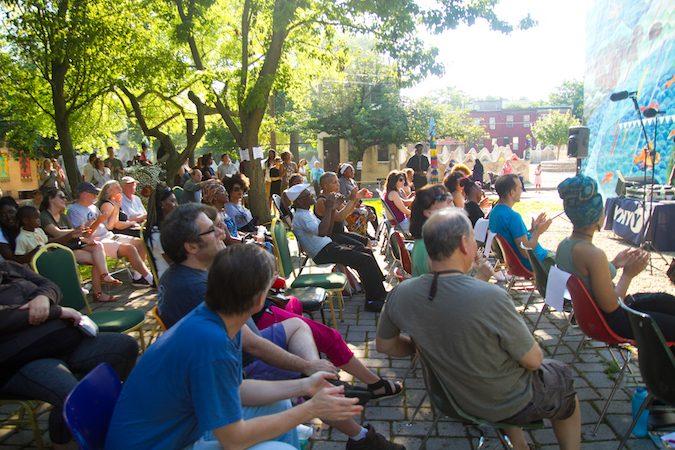 Storytelling Block Party Audience. (Miguel Martinez/Every ZIP Philadelphia)