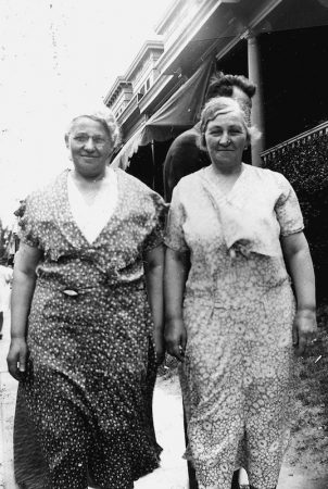 Esther Wolf and her sister Jenny were inseparable as a pair well into their old age. Both were born in Newtown, traveled all around the city, and lived into their 90s. (Courtesy of Carl Nathans)