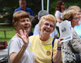 two older women laughing