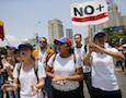 anti-government protestors in Caracas