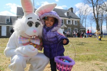 Members of Hope Church Philly got together this weekend to celebrate Easter with fun games, activities and with an Easter Bunny on sight (Natavan Werbock/for NewsWorks)