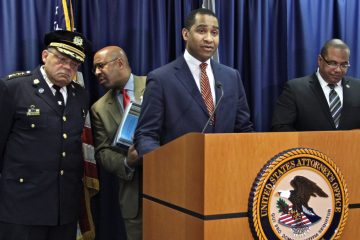 U.S. Attorney Zane Memeger speaks in March about the Department of Justice recommendations for reforming the use of deadly force by police in Philadelphia. (Emma Lee/WHYY)