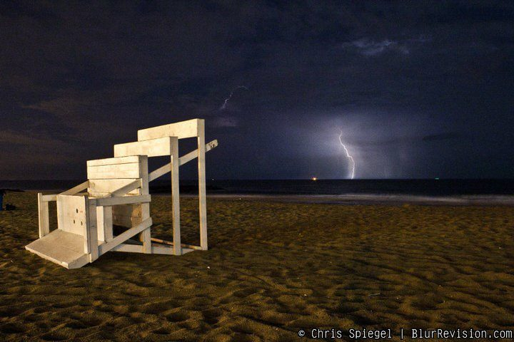 A thunderstorm off Ocean Grove. (Photo: Chris Spiegel/Blur Revision Media Design)