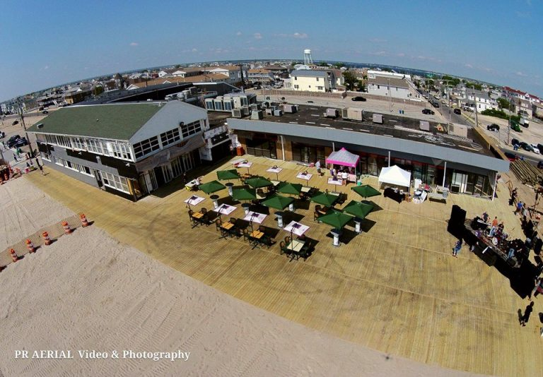 The Sawmill Café and newly rebuilt boardwalk as seen on June 14, 2014. (Photo: PR Aerial Photography & Video Services)