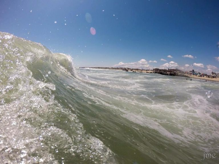 An incoming wave in Ocean Grove on August 24, 2014 by JSHN contributor John Entwistle.