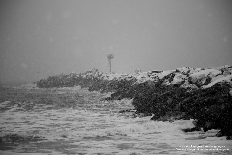 The Manasquan Inlet in early February 2015 by Michael Guccione Photography‎.