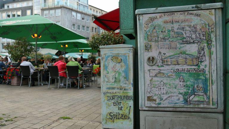 Public space installations and transit parks, Dortmund (WHYY/Marielle Segarra)