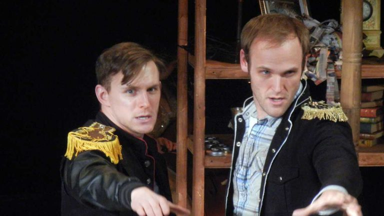 Ben Michael (left) and Alex Bechtel as two princes in Theatre Horizon's production of 'Into the Woods,' nominated for a dozen Barrymore Awards -- the most for a production staged this past season.