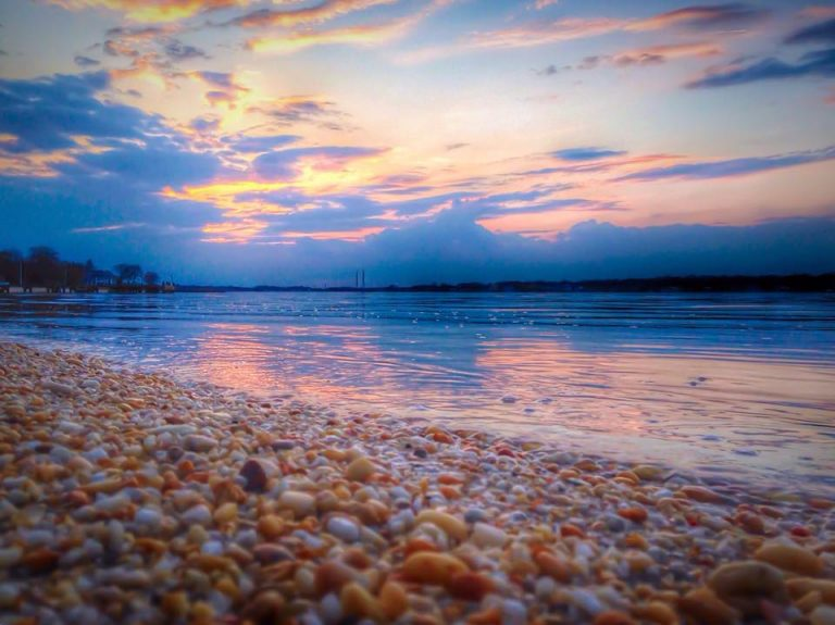 Pine Beach at sunset yesterday by JSHN contributor Cindy Maioriello Hummel.