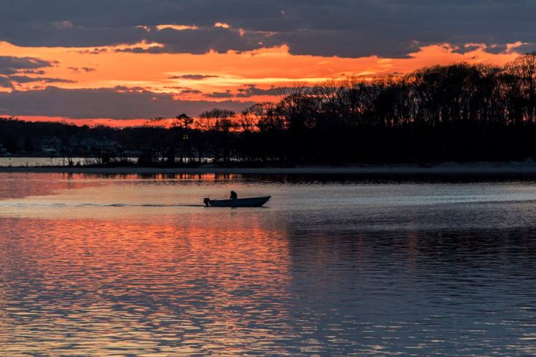 Sunset over the Manasquan River on April 29, 2015 by Joanne O'Shaughnessy Photography.