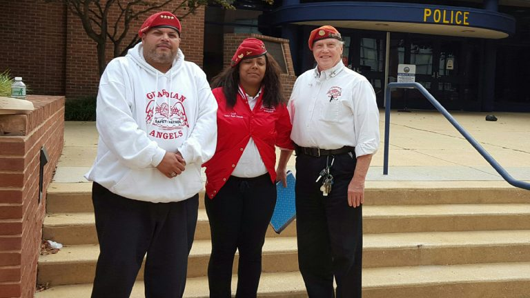 Guardian Angels representatives visited Wilmington, Delaware, police to talk about street patrols and other efforts to help fight crime in the city.