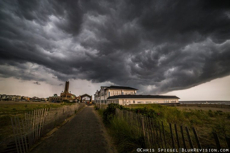 Storm clouds over Asbury Park during a July 30, 2015 thunderstorm. (Photo: Blur Revision Media Design)