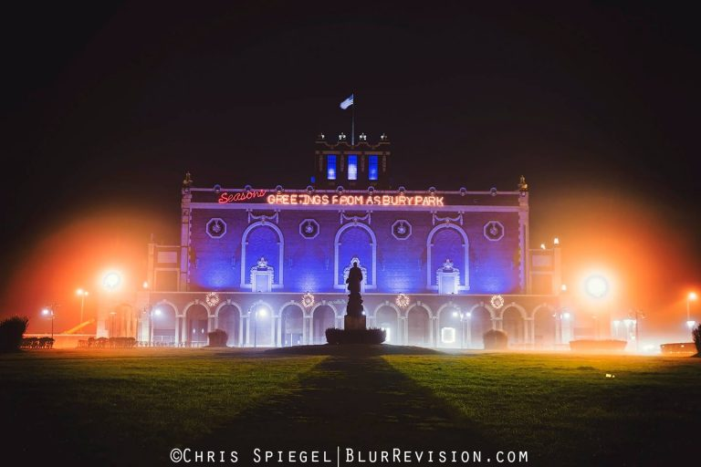 A foggy Asbury Park on Christmas Eve 2015 by Blur Revision Media Design.
