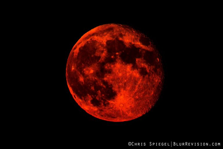 The moon over Ocean Grove on August 22, 2013. (Photo: Chris Spiegel/Blur Revision Media Design)