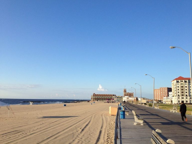 The Asbury Park boardwalk this morning. (Photo: Robert Siliato Photography)
