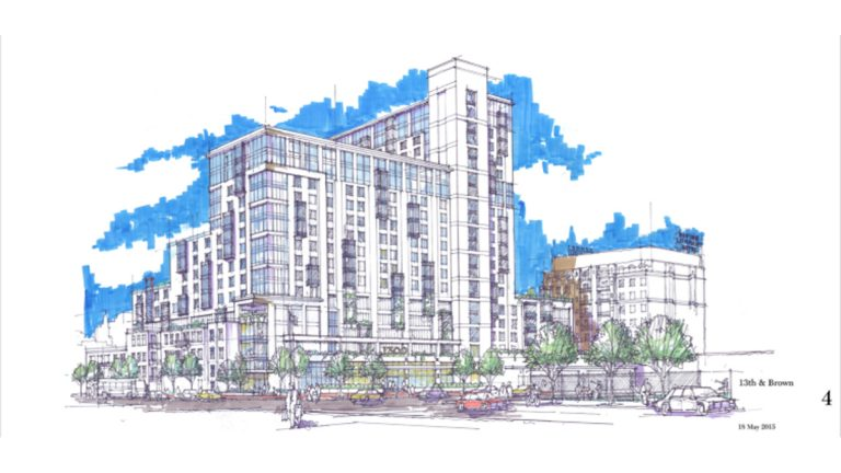 1300 Fairmount (Renderings courtesy of Cope Linder Architects via PlanPhilly)