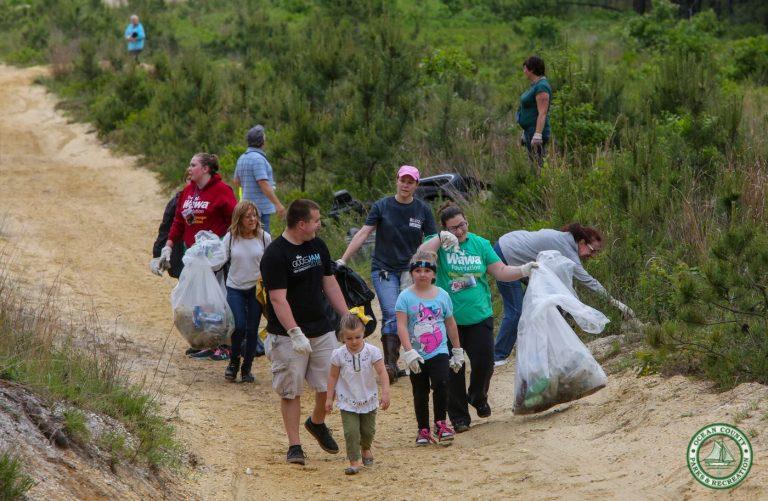Team Wawa volunteers sweep through Berkeley Township during last week's Barnegat Bay Blitz. (Photo: Ocean County Parks & Recreation)
