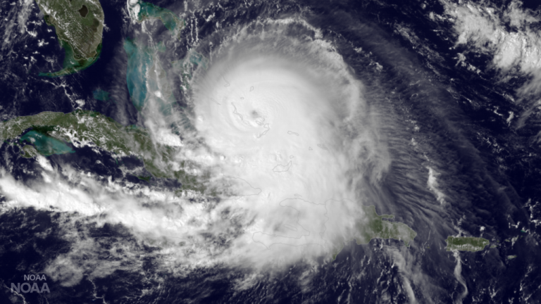 Category 4 Hurricane Joaquin in the Bahamas as seen by the GOES East satellite at 1900Z on October 1