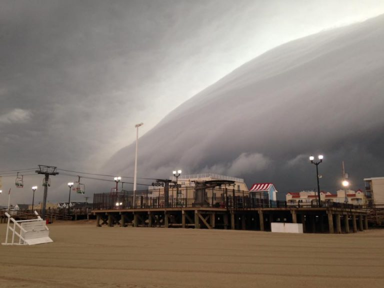 A storm entering Seaside Heights shortly before 6:20 a.m. this morning by JSHN contributor Gina Valania Olkowski.
