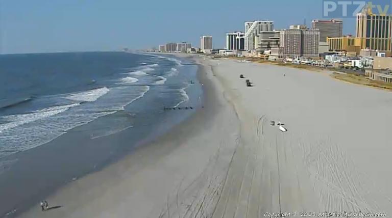 Shortly before 10 a.m. today in Atlantic City via AtlanticCityWebcam.com.