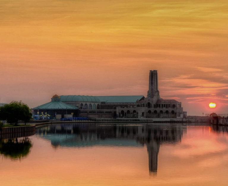 Today's sunrise in Asbury Park by Tom Berg Photography.