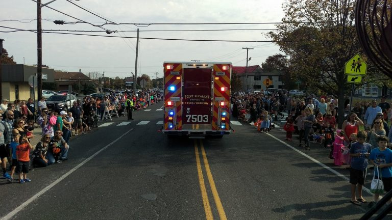 A Point Pleasant Fire Department truck participating in yesterday's parade. (Image: Point Pleasant Fire Department Station 75)
