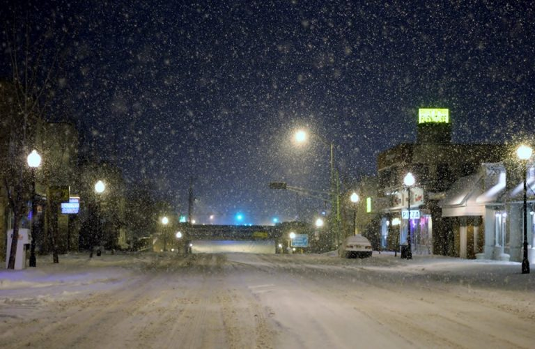 A snowy downtown Manville on January 21 by Jersey Shore Hurricane News contributor Robert John Tomasulo.