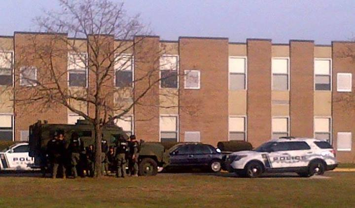 Authorities at St. John Vianney High School in Holmdel Wednesday. (Image courtesy of the Monmouth County Prosecutor's Office)