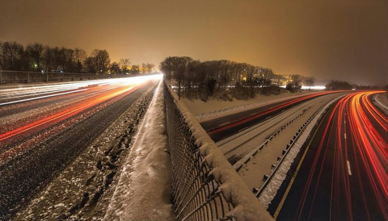 After the snow ended Saturday evening over the Garden State Parkway in Old Bridge. (Photo:  Jennifer Khordi via Jersey Shore Hurricane News)