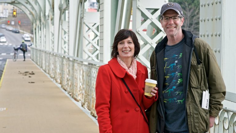 Carolyn and Steve Fillmore started East Falls Local. It's part blog, part news site, part community forum. (Bas Slabbers/for NewsWorks)