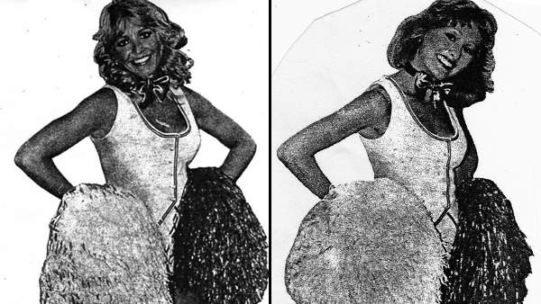 Images of Cheryl Frey (left) and Beth Treston, stage name of Marybeth Hagan, circa 1979, from 'The Evening Bulletin,' a popular Philadelphia newspaper back in the day. (Images courtesy of Marybeth Hagan)