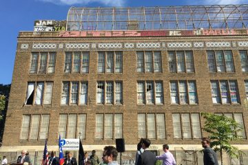The vacant Spring Garden School in North Philadelphia will be converted into 37 units of affordable housing for seniors and veterans. (Maiken Scott/WHYY)