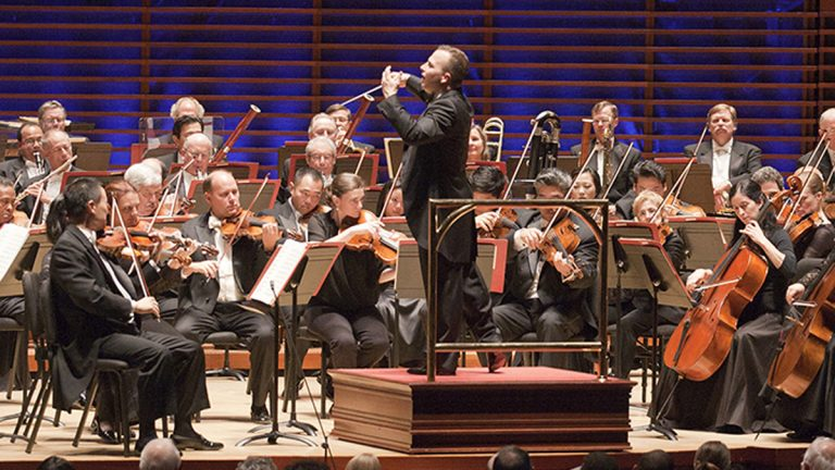 Music Director, Yannick Nézet-Séguin, leads the Philadelphia Orchestra. (Courtesy of Jessica Griffin)