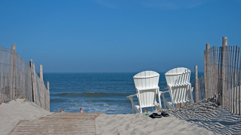 The view of the Atlantic Ocean at Beach Haven. (Shumita Basu/for NewsWorks)