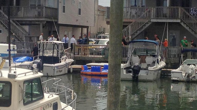 The lagoon where a man's body was discoverd. (Photo courtesy of Ted Greenberg of NBC10)