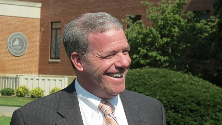U.S. Senator Jeff Chiesa today endorsed Steve Lonegan. (Phil Gregory/WHYY)
