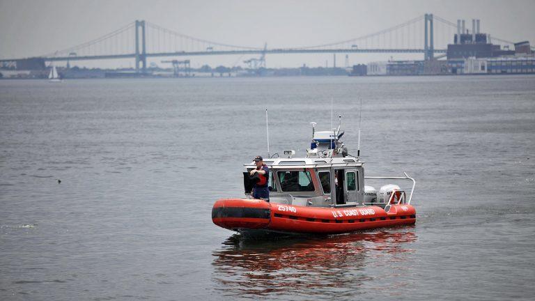 A Coast Guard search vessel in the Delaware River in 2010.  (AP FILE Photo/Matt Rourke)