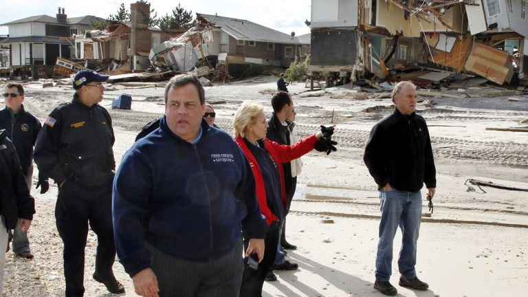 A severely damaged home is seen Tuesday, Feb. 5, 2013, in Union Beach, N.J. New Jersey  (AP FILE Photo/Mel Evans)