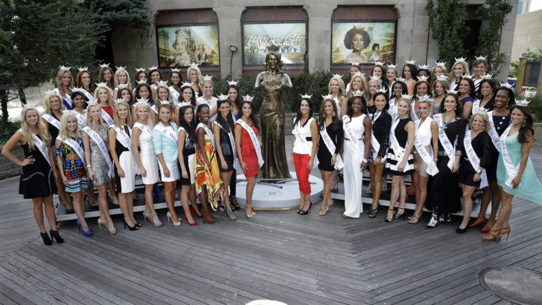 The Miss America pageant is back in the city where it began, six years after spurning the city for Las Vegas.  (AP Photo/Mel Evans)